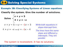 it has no solutions example 3b classifying systems of linear equations