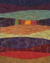 Landscape Quilt using curved piecing and freeform quilting ... & Landscape Quilt using curved piecing and freeform quilting. Art QuiltingFree  ... Adamdwight.com