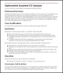 Optometric Technician Resume Objective Optometrist Of An Optician