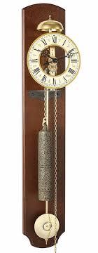 hermle 70992 030711 michelle walnut skeleton wall clock