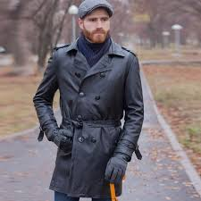 trench coat en cuir v ritable x long hommes jpg