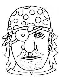 Maschera Del Pirata Da Colorare E Indossare Per Bambini Per Il