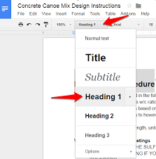 Google Doc Format How To Create Table Of Contents In Google Docs
