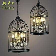 industrial crystal chandelier vintage loft style retro wrought iron cage crystal chandelier coffee restaurant bar