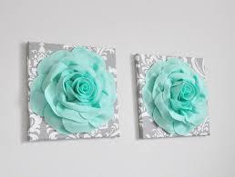 seafoam wall art mint green roses on gray damask canvases handmade wall hanging bohemian weaving woven wall art mint nursery bathroom on seafoam green canvas wall art with seafoam wall art mint green roses on gray damask canvases