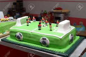 Football Birthday Cake Stock Photo Picture And Royalty Free Image