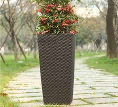 twsw 02 self watering planters outdoor square flower pot large plant container