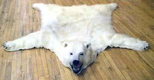 bear rug for polar canada rustick