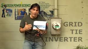 grid tie inverter solar panel power easy electricity savings