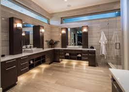 under vanity lighting. Modern L Shaped Bathroom Vanity To Set In Gorgeous Room : Alluring Walk Shower Under Lighting A