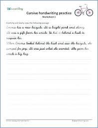 Handwriting Worksheet Kindergarten Cursive Practice Sentences