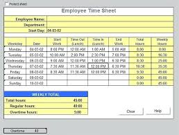 timesheet calculator with lunch self calculating excel template download by timesheet calculator