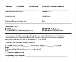 Employee Payroll Deductions Calculator Sample Payroll Deduction Form 10 Download Free Documents