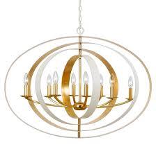 crystorama luna 8 light matte white antique gold chandelier