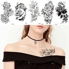 Iorikyo черная сексуальная рука цветок татуировки женщины наклейки на грудь боди арт