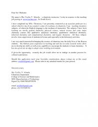 Cover Letter For College Job Academic Cover Letter Sample