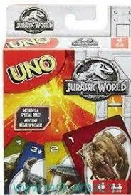 """<b>Игра</b> настольная """"UNO.<b>Jurassic World</b>"""" : арт.FLK66 (ТМ <b>MATTEL</b>)"""