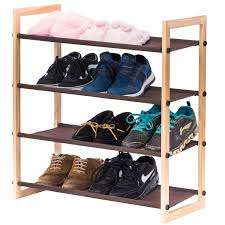 Shoe Organizer Stackable Shoe Rack Maidmax 4 Tiers Shoe And Storage Rack