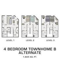 Floor Plans For Rent At Cornhill Townhouses U0026 Luxury Garden Townhomes Floor Plans