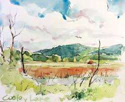 Cathy Johnson--Art, Life, and other Oddities : The Summer of Amazing  Serendipity... | Contemporary watercolor art, Watercolor landscape,  Watercolor sketch