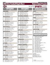 Wisconsin Football Depth Chart 2016 Griz Release First Fall Football Depth Chart University Of