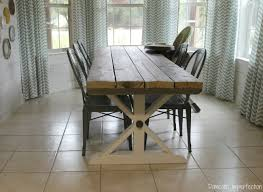 rustic barn wood dining table
