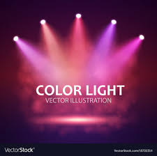 Spotlight Graphic Design Spotlight On Stage For Your Design Colorful Light