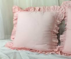 pink ruffle pillow.  Ruffle Image 0 Intended Pink Ruffle Pillow A