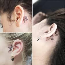 тату на ухе необычные идеи для татуировок в области уха