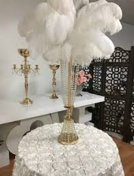 incredible feather centerpiece al flower ostrich crystal candelabra come complete with and vase choose from 40