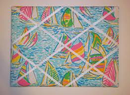 Lilly Pulitzer Memo Board New Memo board mw Lilly Pulitzer Multi You Gotta Regatta fabric 1