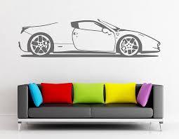 spider sports car vinyl wall sticker