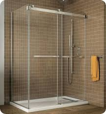 bypass sliding shower doors with return panel 48 frameless door dreamline infinity z 44 to inch