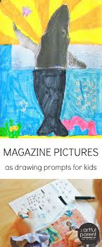 magazine pictures as drawing prompts for kids magazine pictures creative kids art activities for