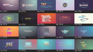 Motion Template After Effects Template Motion Titles Pack Youtube