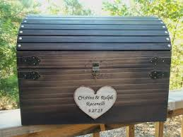 rustic wedding card box huge large size rustic wood chest with card slot and key set all inclusive