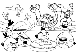 Small Picture Party Angry Birds Coloring pages Free Printable Coloring Pages For