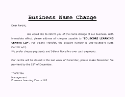 Change Of Company Name Letter Format Template Update234 Com