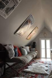 slanted walls bedroom door design