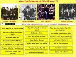 World War Ii Conferences By Bill Burton Teaching