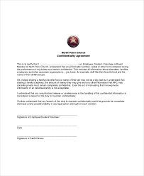 confidentiality agreement template volunteer confidentiality agreement