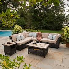 Avondale 6 Piece Sectional Seating Set with Premium Sunbrella