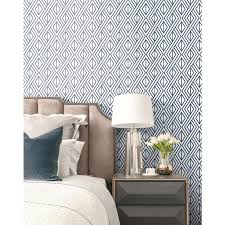NextWall 30.75-sq ft Navy and White ...