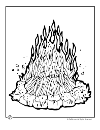 Small Picture Campfire Coloring Page Woo Jr Kids Activities