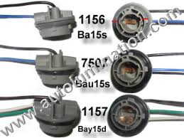 automotive connectors 1156 7506 1157 2357 7507 plastic twist lock pigtail bulb socket connector wiring