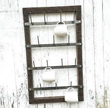 coffee mug wall hanger mug rack cup rack drying rack metal mug rack wood mug coffee mug holders wall mounted