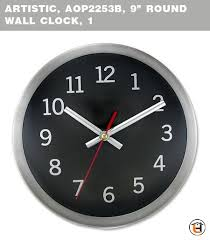 artistic aop2253b 9 round wall clock