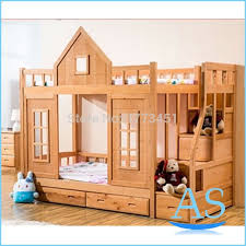 awesome 2016 hot wooden kids bunk bed beech wood children double bed pertaining to wood beds for kids popular