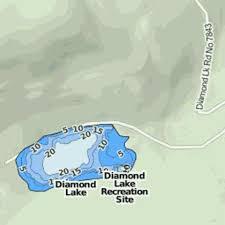 Diamond Lake Fishing Map Us_mt_00782359 Nautical
