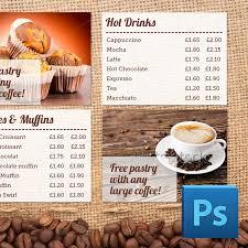 Price Signage Template Coffee Shop Menu Board Psd Template